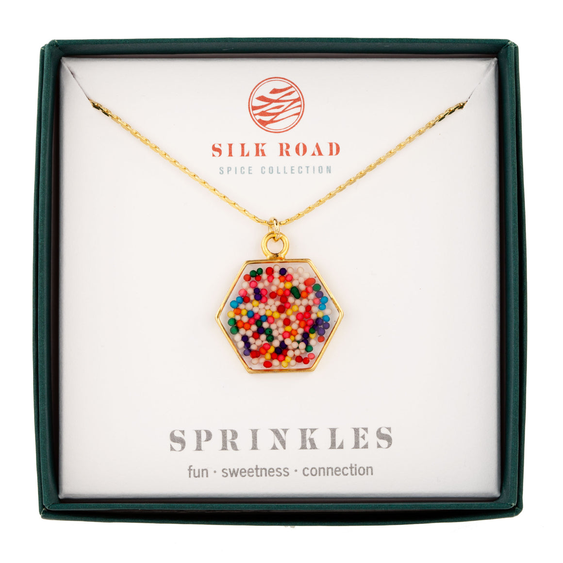 Sprinkles | Large Hexagonal Necklace