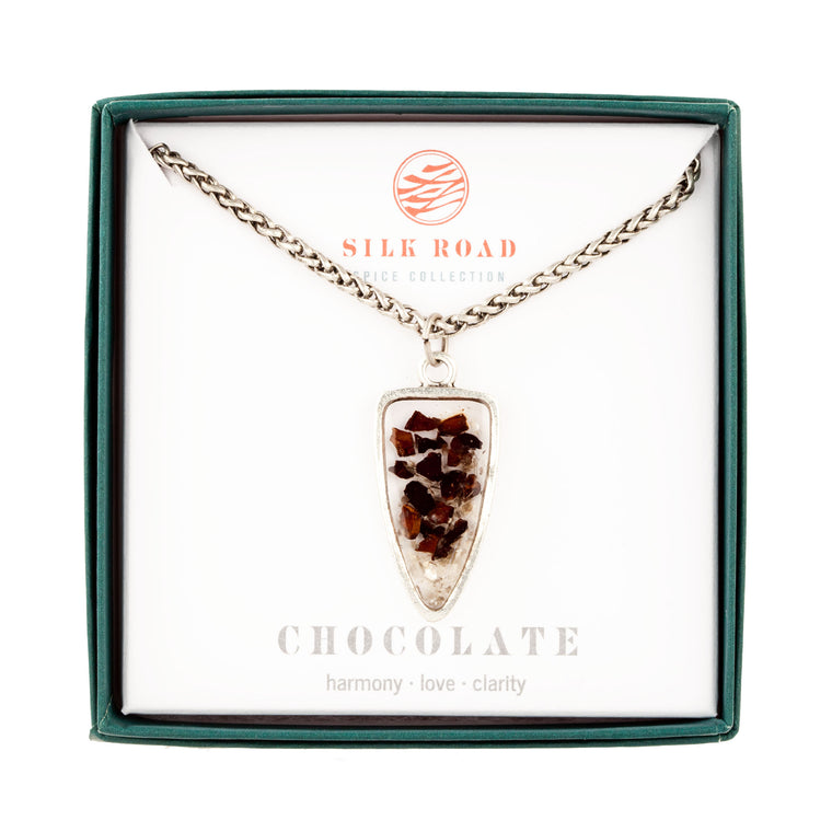 Chocolate | Large Ancient Drop Necklace
