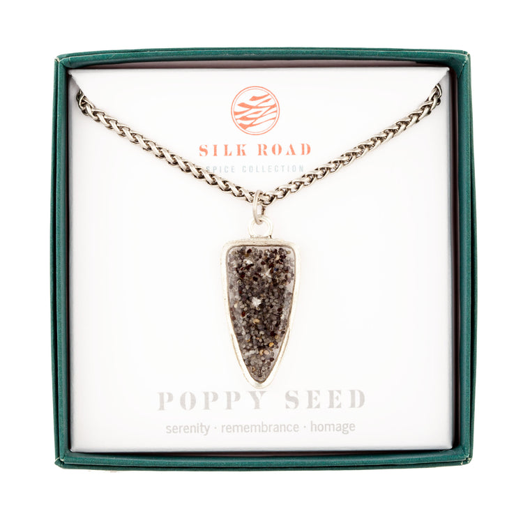 Poppy Seed | Large Ancient Drop Necklace