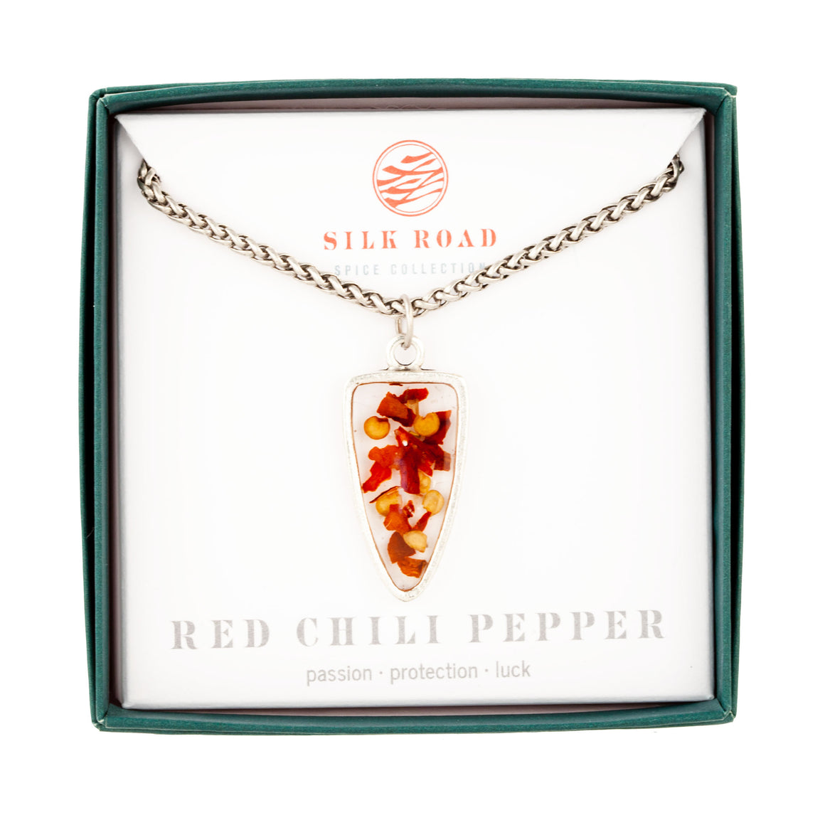 Red Chili Pepper | Large Ancient Drop Necklace