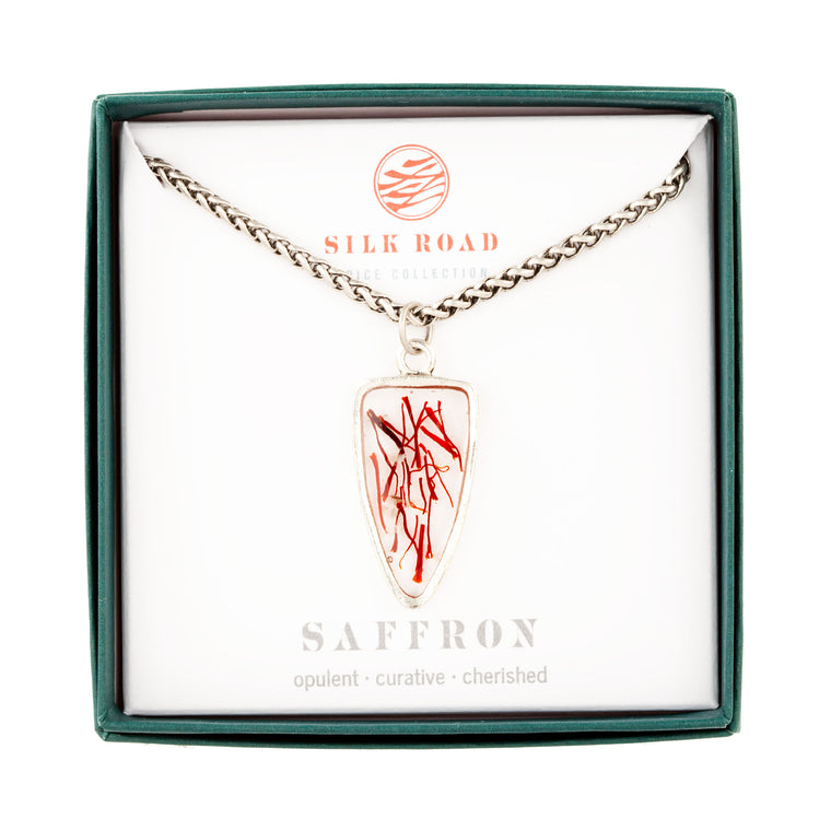 Saffron | Large Ancient Drop Necklace