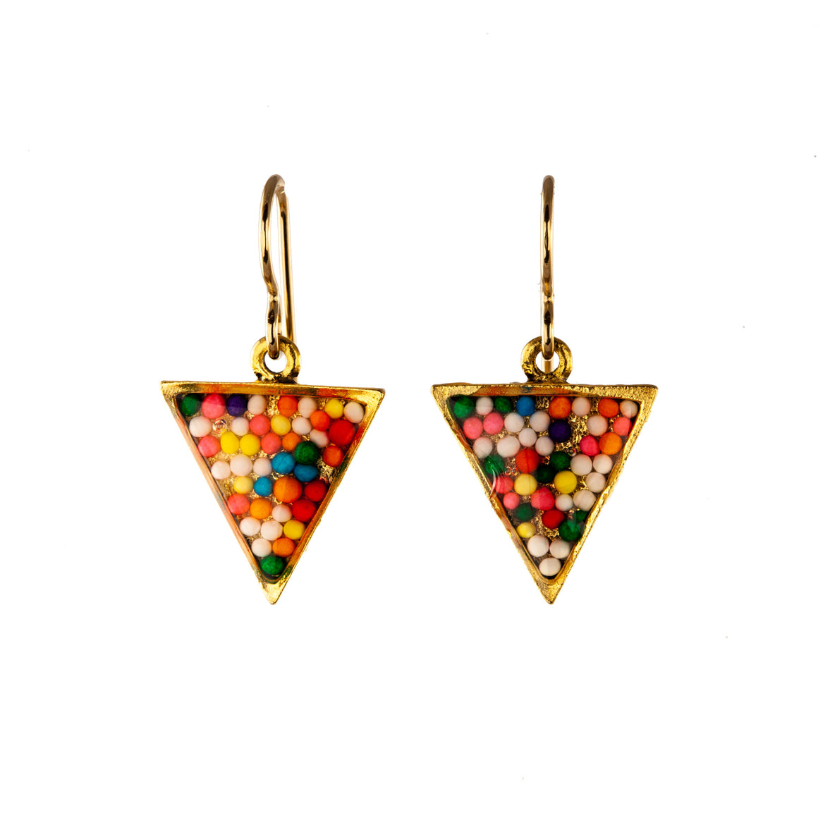 Sprinkles | Triangle Earrings