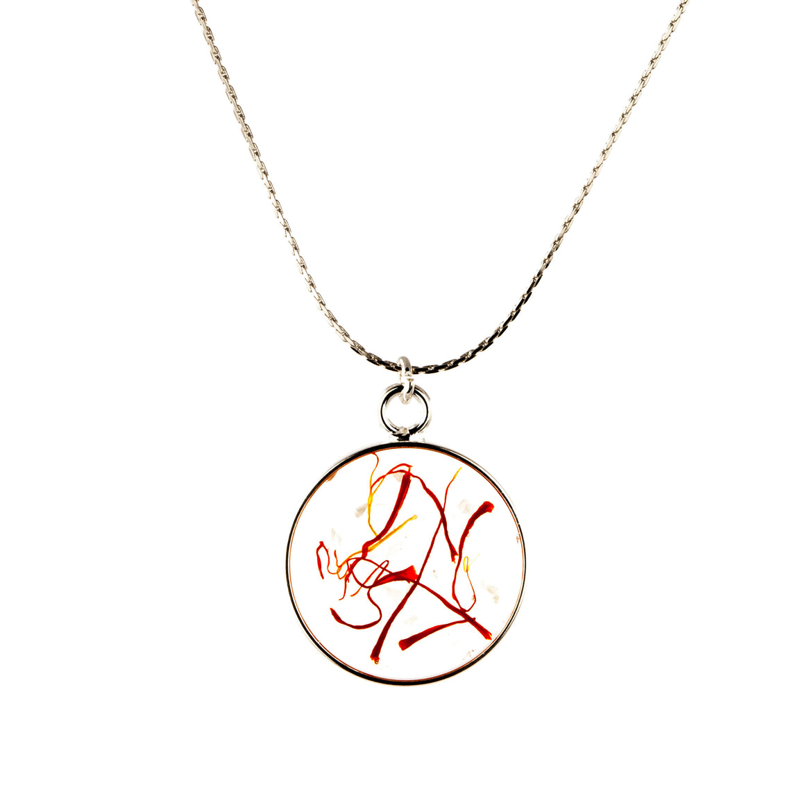 Saffron | Simple Circle Necklace