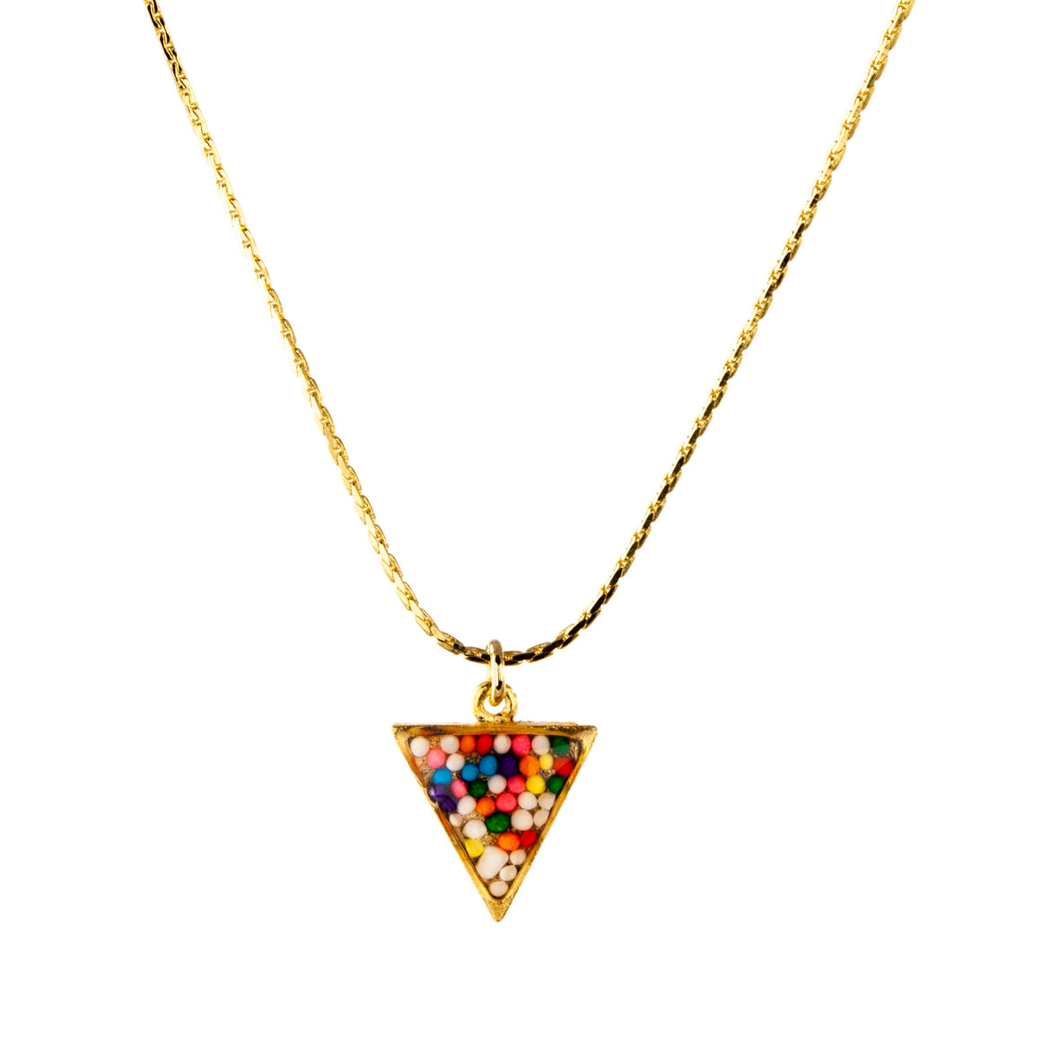 Sprinkles | Triangle Necklace
