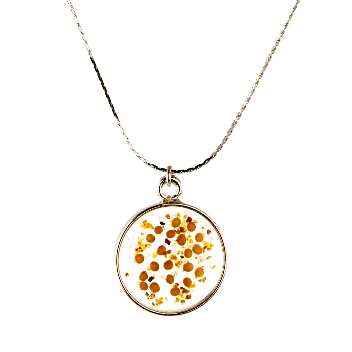 Yellow Mustard Seed | Simple Circle Necklace