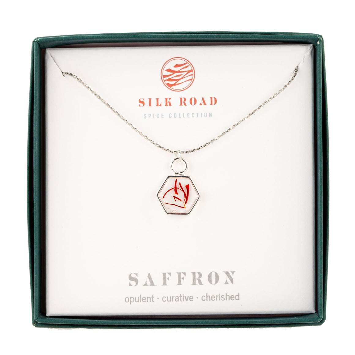 Saffron | Small Hex Necklace