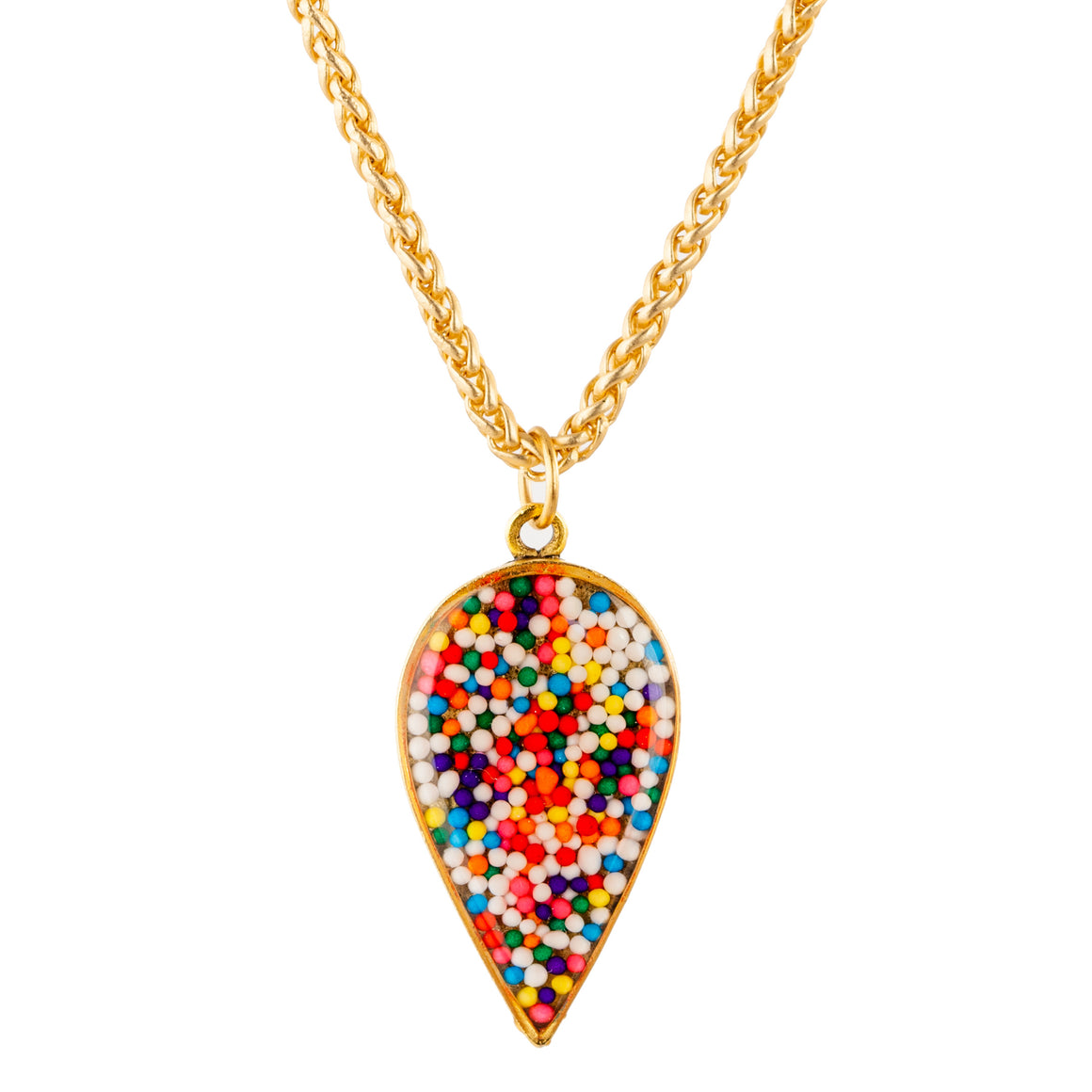 Sprinkles | Large Raindrop Necklace