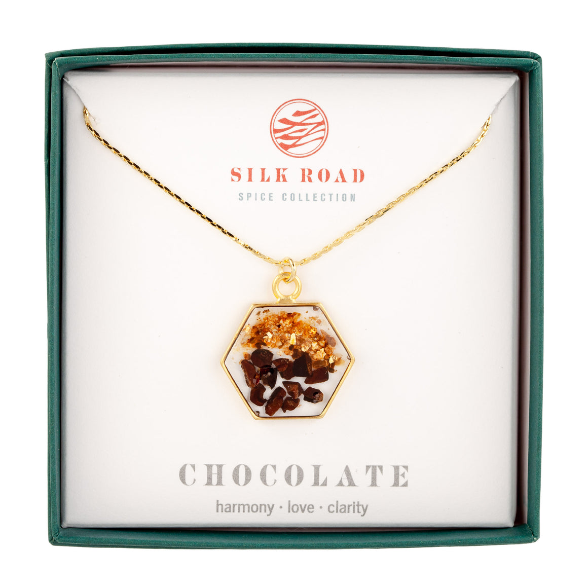 Chocolate | Large Hexagonal Necklace