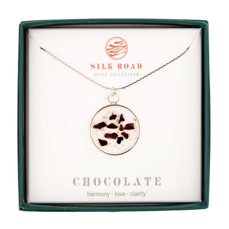 Chocolate | Simple Circle Necklace