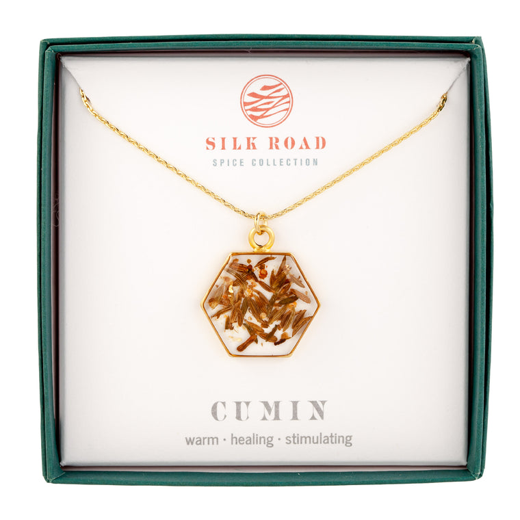 Cumin | Large Hexagonal Necklace