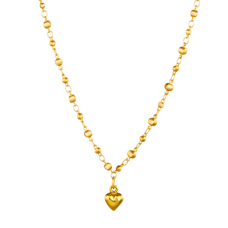 Heart on Dotted Chain Necklace