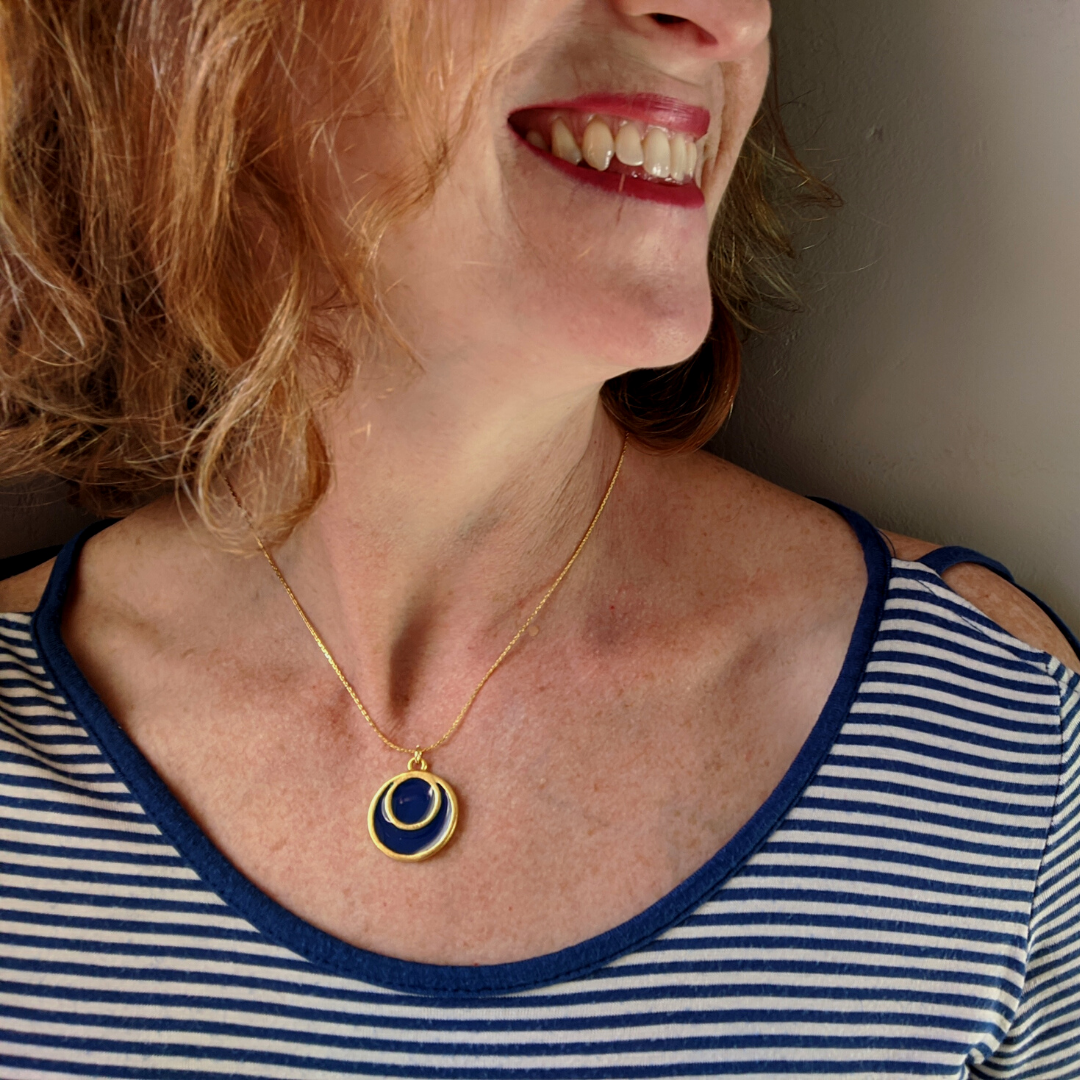Azure | Full Moon Necklace