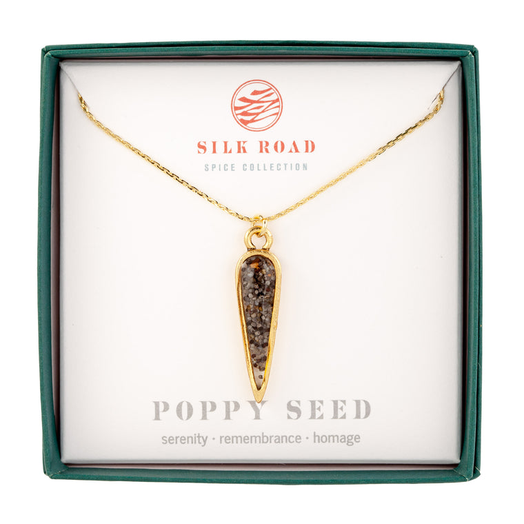 Poppy Seeds | Small Ancient Drop Necklace