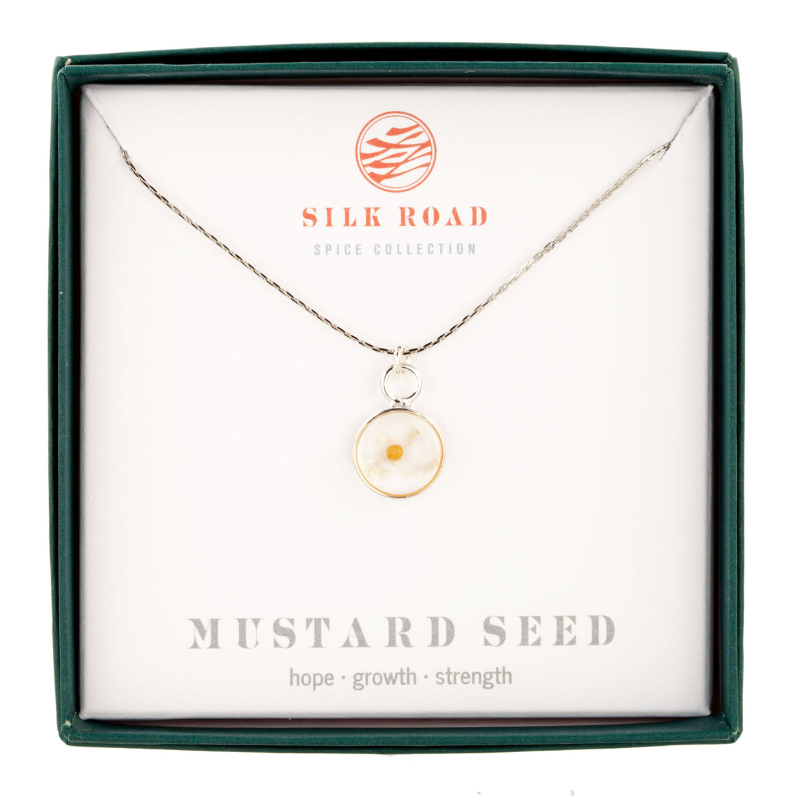 Yellow Mustard Seed | Small Round Necklace