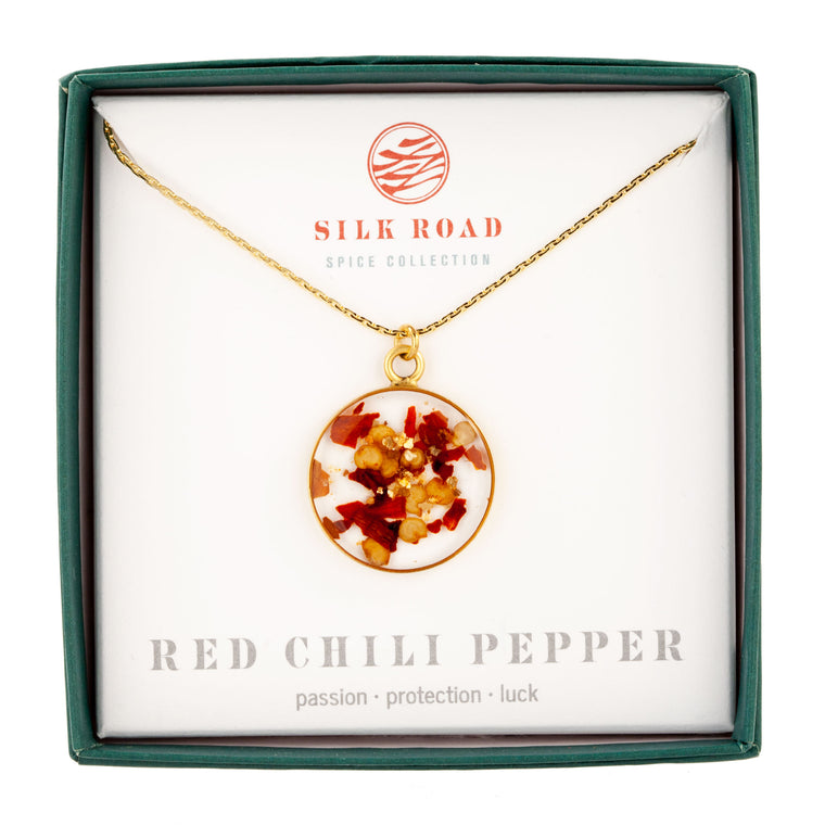Red Chili Pepper | Simple Circle Necklace