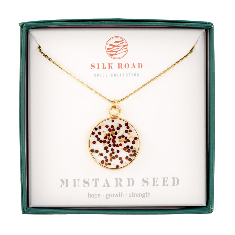 Red Mustard Seed | Simple Circle Necklace