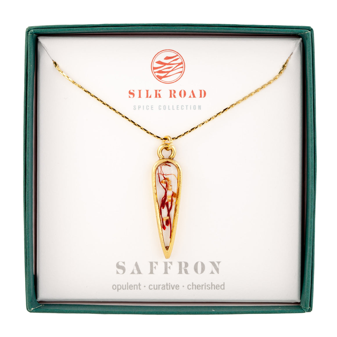 Saffron | Small Ancient Drop Necklace