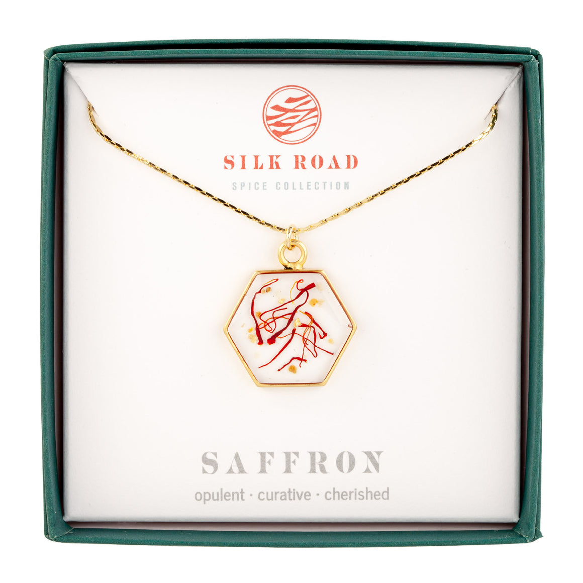 Saffron | Large Hexagonal Necklace