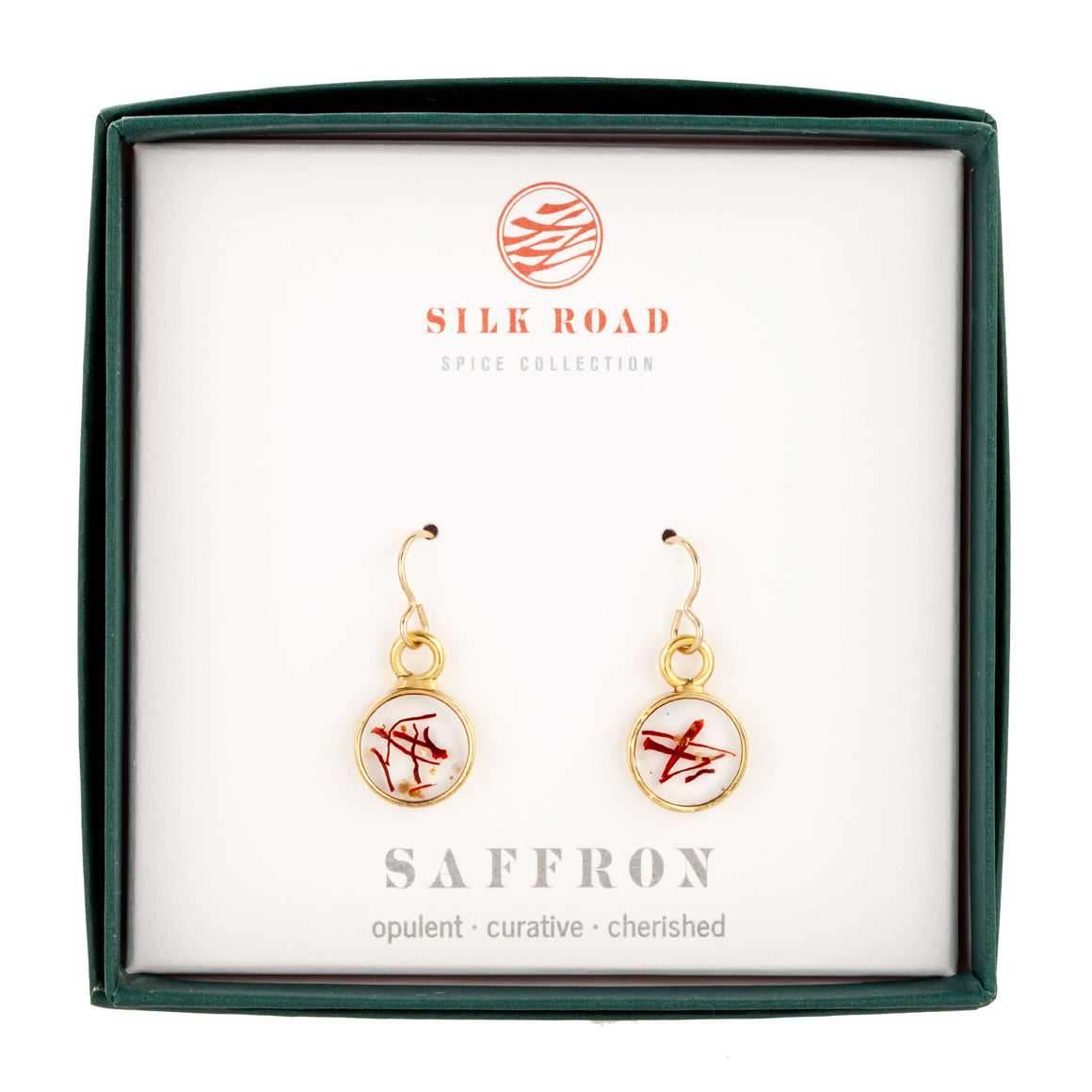 Saffron | Tiny Round Earrings