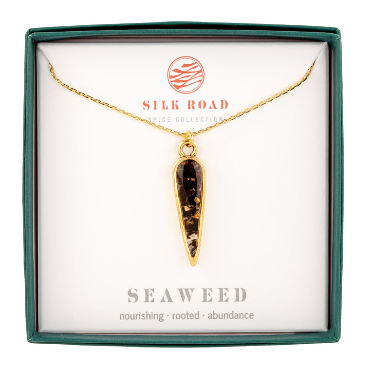 Seaweed | Small Ancient Drop Necklace