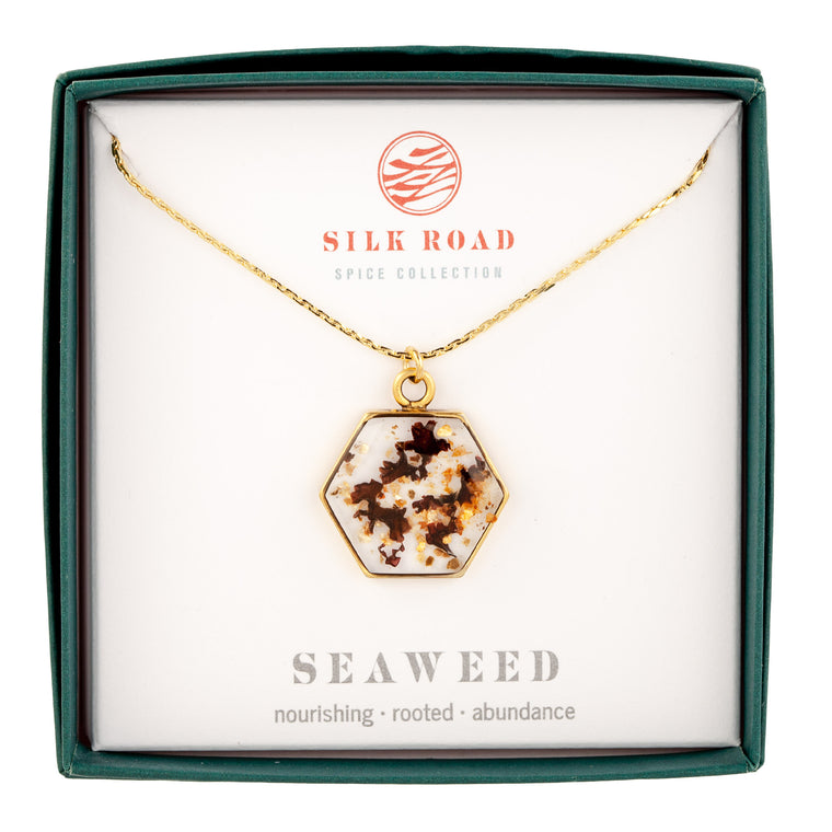 Seaweed | Large Hexagonal Necklace