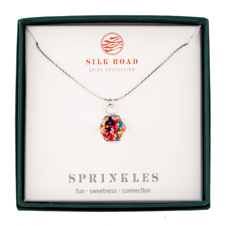 Sprinkles | Small Hexagonal Necklace