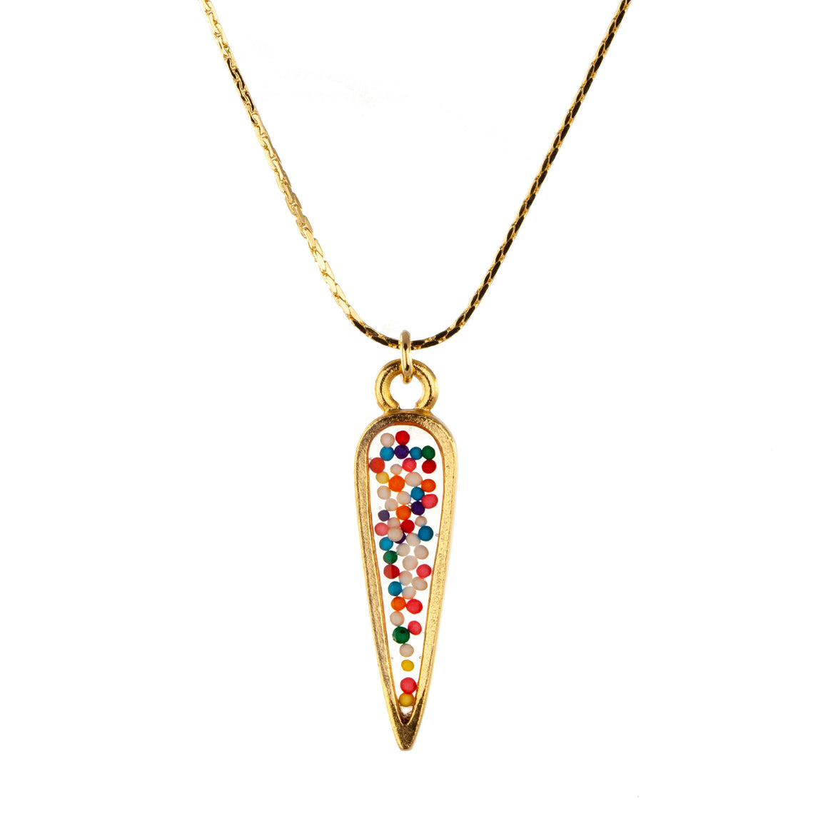 Sprinkles | Small Ancient Drop Necklace