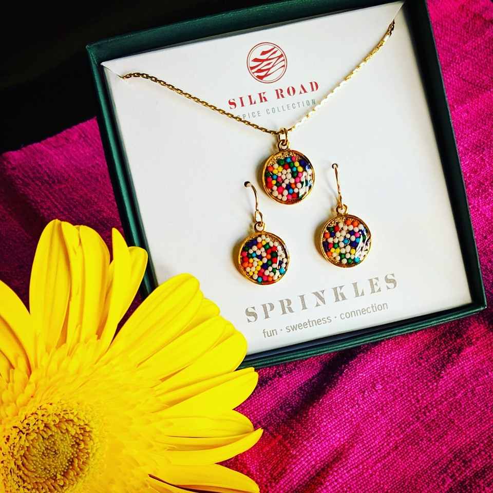 Sprinkles | Small Round Necklace and Earrings Set