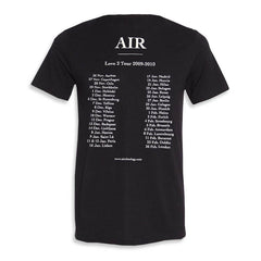 LOVE 2 TOUR 2009-2010 MEN'S BLACK T-SHIRT