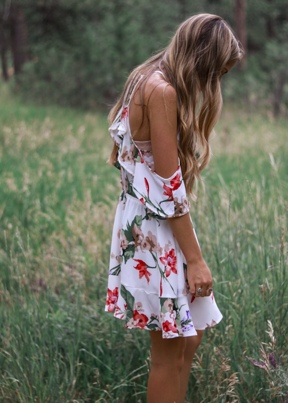Tropical Ruffle Dress