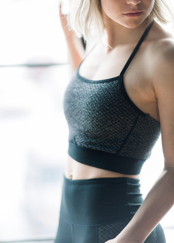 Diamond Texture Sports Bra