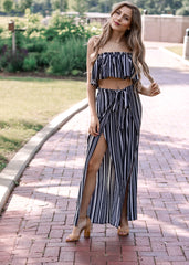 Striped Two Piece