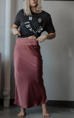 Satin Marsala Skirt