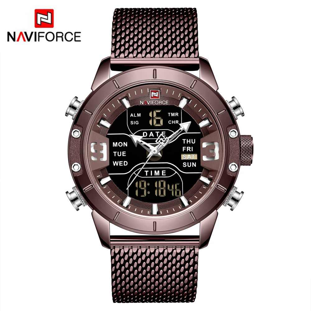 Men's Naviforce Watch (9153)- Brown