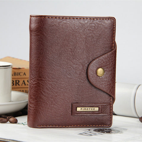 Genuine Leather Men's Elegant Wallet - Horizontal