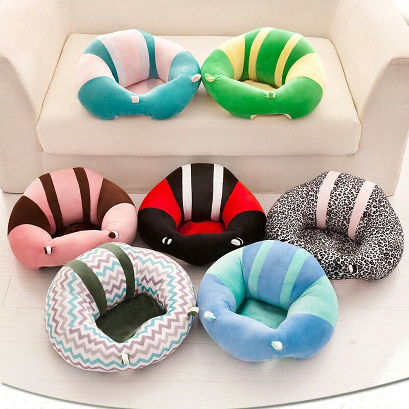 BABY SEAT SUPPORT SIT UP CHAIR SOFA PLUSH PILLOW - Blue