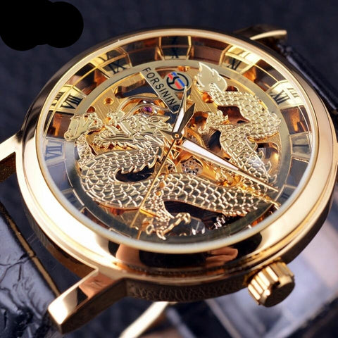 Automatic Skeleton Mechanical Watches - Dragon