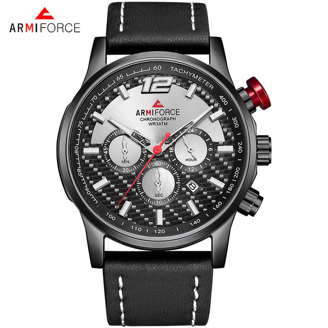 Men's Armiforce Watch (8002)- Black and Silver