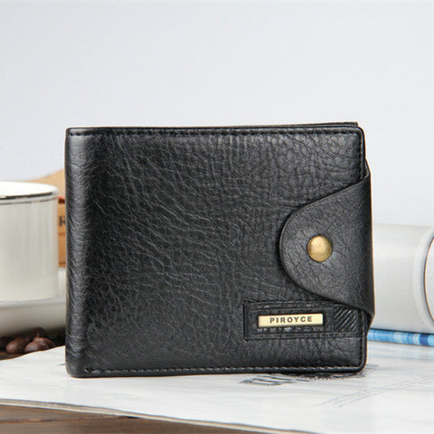 Copy of Genuine Leather Men's Elegant Wallet -Black  Verticle