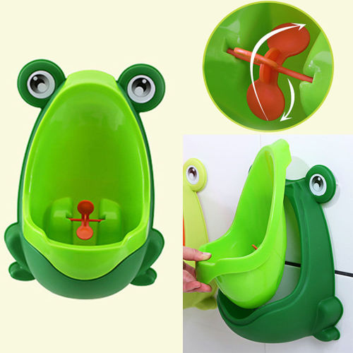 Children's Froggy Potty Urinal Trainer for Boys- Green
