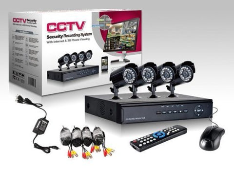 4 Channel Security Surveillance System With Internet & 3G Phone Viewing