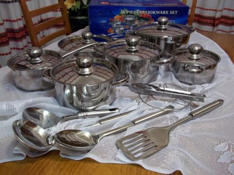 18PCS COOKWARE SET (HEAVY POTS)