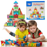 50 Piece Mathematics Wooden Learning Blocks Play Set for Kids