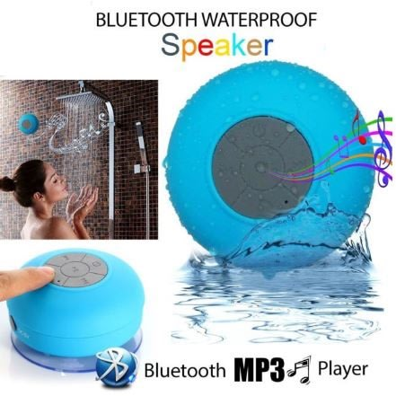Wireless Bluetooth Waterproof Speaker for IOS & Android Devices - Pink
