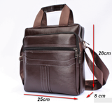 Men's PU Leather Sling bag - Brown