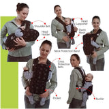 6 Position Baby Carrier - Designed for Newborn Babies Up Until 24 Months Old - Navy