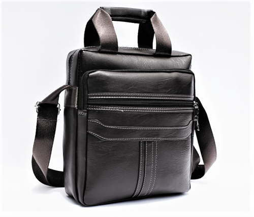 Men's PU Leather Sling bag - Black