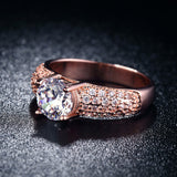 18K Rose Gold Plated Crystal Ring
