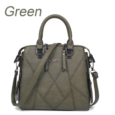 Ladies Cross Body Handbag - Green