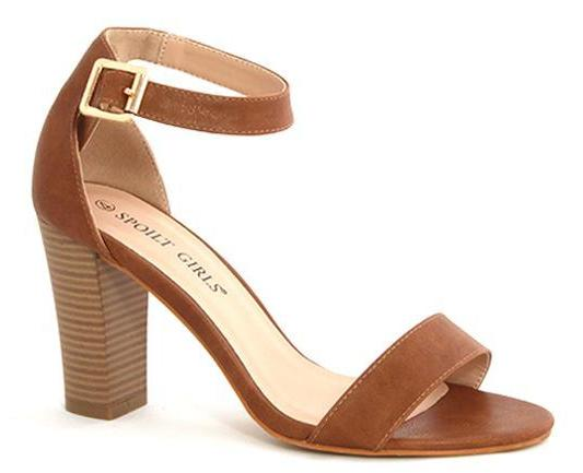 Spoilt Girls Block Heels - Tan